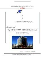 dự án đầu tư xây dựng khách sạn the sen hotel