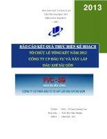 tổ chức lễ tổng kết năm 2012 công ty cp đầu tư và xây lắp dầu khí sài gòn