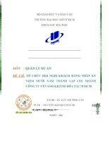 tổ chức hội nghị khách hàng nhân kỷ niệm mười năm thành lập chi nhánh công ty yến sào khánh hòa tại tp.hcm