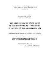 Luận văn thạc sỹ: Tăng cường huy động vốn tiền gửi dân cư tại Ngân hàng TMCP Đầu tư và phát triển Việt Nam – Chi nhánh tỉnh Điện Biên
