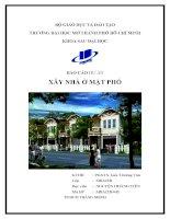 báo cáo dự án xây nhà mặt phố