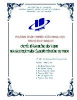 các yếu tố ảnh hưởng đến ý định mua sách trực tuyến của người tiêu dùng tp.hcm