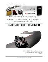 báo cáo kết quả thực hiện dự án nghiên cứu phát triển thiết bị định vị cho xe máy j610 motor tracker