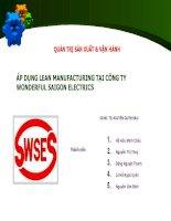 áp dụng lean manufacturing tại công ty wonderful saigon electrics
