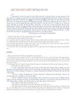Bài tập đọc hiểu ôn thi  quốc gia Ngữ văn 12 kì II