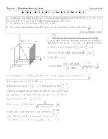 30 bài toán chọn lọc hình học không gian hay