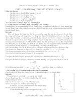 phân loại và phương pháp giải các bài tập cơ - nhiệt bậc thcs