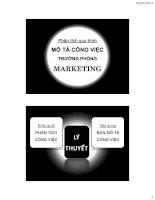 tiểu luận quản trị nhân sự  báo cáo phân tích quy trình mô tả công việc của trưởng phòng marketing
