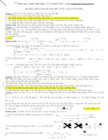 giải chi tiết đề thi thử đại học môn vật lý