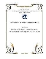 tiểu luận môn marketing dịch vụ chiến lược phát triển dịch vụ tỏ tình cầu hôn tại tp. hồ chí minh