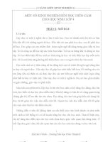 skkn một số kinh nghiệm rèn đọc diễn cảm cho học sinh lớp 4
