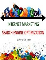 báo cáo tiểu luận môn internet marketing tối ưu hóa công cụ tìm kiếm seo