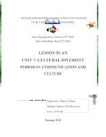 giáo án tiếng anh thí điểm 10 communication and culture unit 7