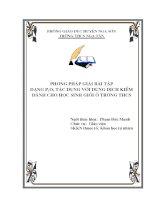 skkn hương pháp giải bài tập dạng p2o5 tác dụng với dung dịch kiềm dành cho học sinh giỏi ở trường thcs