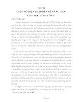 skkn một số BIỆN PHÁP rèn kĩ NĂNG đọc CHO học SINH lớp 4