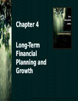 Chapter 4 long term financial planning and growth