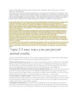 60 bài luận,đoạn văn tiếng anh ôn thi công chức môn anh văn