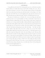 Bản nháp báo cáo tổng hợp kiểm toán TỔNG QUAN VỀ ĐẶC ĐIỂM KINH TẾ KỸ THUẬT VÀ TỔ CHỨC BỘ MÁY QUẢN LÝ HOẠT ĐỘNG SẢN XUẤT KINH DOANH CỦA CÔNG TY TNHH MTV DÂN THẮNG.