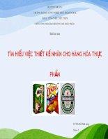 tiểu luận môn công nghệ bao bì đóng gói thực phẩm tìm hiểu việc thiết kế nhãn cho hàng hóa thực phẩm