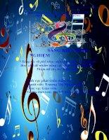 Sáng tác và phổ nhạc một số bài thơ, câu chuyện theo chủ đề nhằm nâng cao chất lượng Giáo dục Thẩm mĩ cho trẻ Mầm non