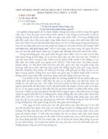 mỘT SỐ BIỆN PHÁP NHẰM PHÁT HUY TÍNH TÍCH CỰC TRONG CÁCHOẠT ĐỘNG CỦA TRẺ 3 - 4 TUỔI