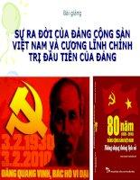 bài giảng sự ra đời của đảng cộng sản việt nam và cương lĩnh chính trị đầu tiên của đảng