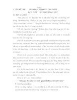 ĐỀ TÀI GIÁO DỤC ĐẠO ĐỨC HỌC SINH QUA TIẾT THỰC HÀNH ĐẠO ĐỨC