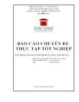 báo cáo thực tập tốt nghiệp xây dựng chương trình quản lý tuyển sinh đại học