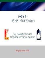 Bài giảng môn tin học Hệ điều hành Windows