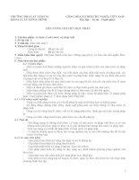 đề cương chi tiết học phần lí luận về nhà nước và pháp luật