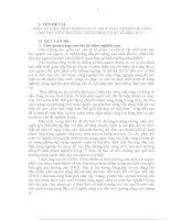 skkn MỘT SỐ BIỆN PHÁP NÂNG CAO Ý THỨC BẢO VỆ MÔI TRƯỜNG CHO ĐỘI VIÊN TRƯỜNG TRUNG HỌC CƠ SỞ Ở MIỀN NÚI