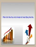 Bài giảng phân tích hoạt động kinh doanh Phân tích tiêu thụ và lợi nhuận từ hoạt động tiêu thụ