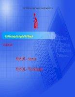 TIỂU LUẬN MÔN MÃ NGUỒN MỞ QUẢN LÝ HỆ QUẢN TRỊ CƠ SỞ DỮ LIỆU MYSQL SERVER MySQL - Workbench