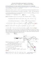 Tổng hợp đề thi và bài giải môn vật lý thi đại học từ năm 2007 đến năm 2014
