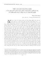 Tiếp cận một phương diện của lịch sử văn học Việt Nam đầu thế kỷ XX từ tiền đề thực tiễn và lý thuyết mới