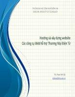 Hosting và xây dựng website Các công cụ Web hỗ trợ Thương Mại Điện Tử