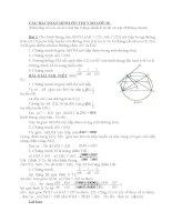 Các bài toán hình học ôn thi vào lớp 10
