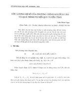 Ước lượng hệ số của phương trình khuếch tán và quy trình tự hồi quy tuyến tính