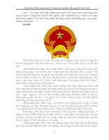 Nội dung Bài dự thi tìm hiểu hiến pháp nước Cộng hoà xã hội chủ nghĩa Việt Nam