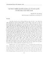Sự phát triển nguồn nhân lực ở Hàn Quốc và bài học kinh nghiệm cho Việt Nam