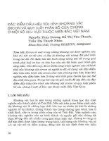 Đặc điểm dấu hiệu tiêu hình khoáng vật Zircon và quy luật phân bố của chúng ở một số khu vực thuộc miền Bắc Việt Nam