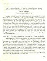 Quan hệ Việt Nam - Singapore (1973 - 2000