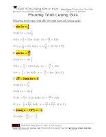 bài tập về phương trình lượng giác có đáp án