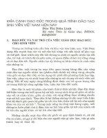 Khía cạnh đạo đức trong quá trình đào tạo sinh viên Việt Nam hiện nay