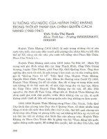 Tư tưởng yêu nước của Huỳnh Thúc Kháng trong thời kỳ tham gia chính quyền cách mạng(1945-1947