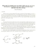 ổng hợp và nghiên cứu các phức chất của Fe, Co và Ni với crotyl và prenyl của Tp'Fr bằng phương pháp phô hấp thụ hồng ngoại.PDF
