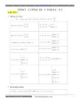 Tóm tắt công thức toán THPT