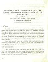 Nghiên cứu quá trình oxi hóa trực tiếp benzen thành phenol bằng 02 trên xúc tác V-W-Oxit SiO2