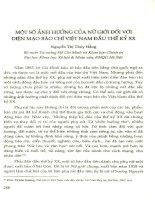 Một số ảnh hưởng của nữ giới đối với diện mạo báo chí Việt Nam đầu thế kỷ XX