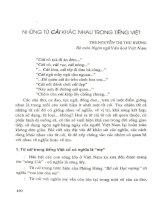 Những từ cái khác nhau trong tiếng Việt